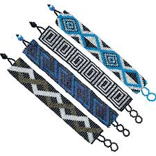 Seed Bead Patterns Magnificent Wide Assorted Seed Bead Pattern Bracelet