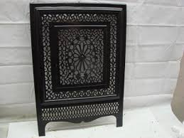 antique late 1800 s cast iron ornate fireplace cover very ornate design j