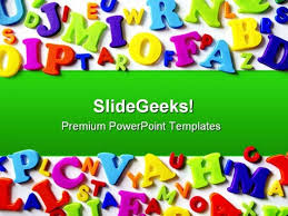 Education Background For Powerpoint Alphabets Background Education Powerpoint Backgrounds And Templates