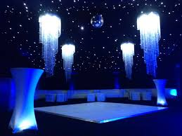 amazing marquee with starlight roof and crystal chandeliers