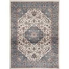 world rug gallery traditional oriental medallion design blue 2 ft x 3 ft indoor