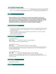 What To Put Under Objective On A Resume Resume Template Objective Resume Objective Examples For Students 57