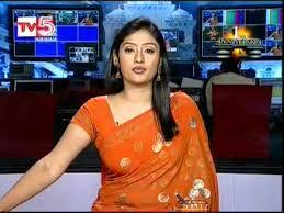 Kalyani TV5 newsreader flv