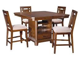Broyhill Furniture Estes Park 5 Piece Storage Counter Height Table