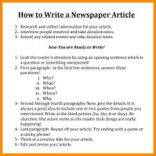 Write Your Own Newspaper Article Template Template Newspaper Format For Word Fresh News Article