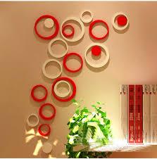 diy circle wall decor pcs box acrylic d circle wall stickers modern home decor diy on