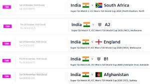 Asia Cup Chart T20 World Cup 2020 Schedule Icc Announces Fixtures For