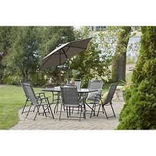 patio furniture chairs. Alcove Arrowhead 8-Pc. Outdoor Patio Dining Set With Folding Chairs And Umbrella Furniture I