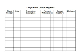 Downloadable Check Register Downloadable Check Register Tool Template Free Definition Biology