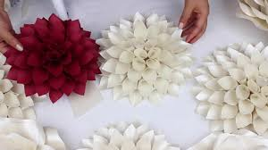 Pearl S Crafts Paper Flower Templates Diy Paper Dahlia Tutorial My Wedding Backdrop Flowers