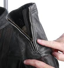 zippered cuffs