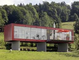 A nice modern house, made from old shipping containers.