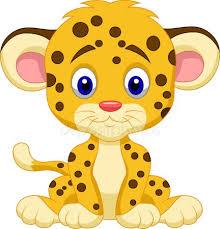 cute leopard cartoon royalty free stock vectors