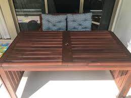 ikea outdoor table and bench