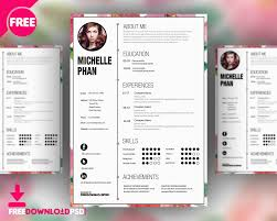 Amazing Free Cv Template Psd Motif Documentation Template
