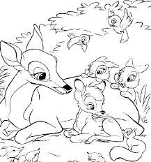 Bambi is a 1942 american animated film directed by david hand (supervising a team of sequence directors), produced by walt disney and based on the 1923 book bambi, a life in the woods by austrian author. Bambi Coloring Pages Disney Coloring Home