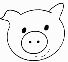 Face Template Printable Pig Face Coloring Page Coloring Pages Pinterest Face Craft 22