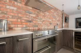 kitchen tiles brick effect interior design