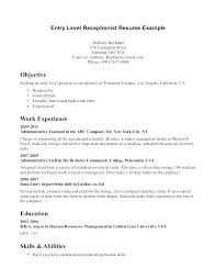Sample Medical Secretary Resume Sample Medical Receptionist Resume