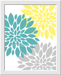 Teal And Yellow Bedroom Yellow Gray Baby Nursery Wall Art You Are My Sunshine Flower Burst