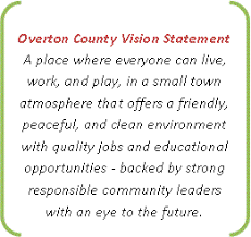 overton county tennessee chamber of commerce  vision statement for overton county