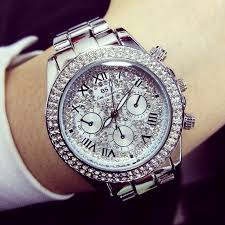 high quality mens large watches promotion shop for high quality ladies luxury fashion steel watches men crystal rhinestone reloj w watch sparkling shining large dial watch brand watches