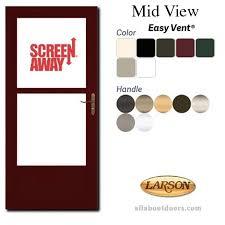Larson Storm Door Size Chart Fullview Storm Door 146mv Easy Vent Clear Glass