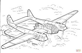 Verkenningsvliegtuig Kleurplaat Gratis Kleurplaten Printen