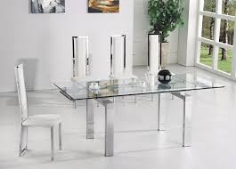 Italian Extendable Dining Table Glass Top Extendable Dining Table Modern Impression For