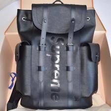 louis vuitton book bags for men. louis vuitton x supreme epi leather christopher monogram runway backpack bag book bags for men