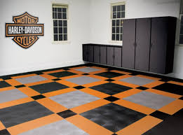 harley davidson garage floor tiles