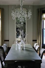bell jar chandelier dining room eclectic with none
