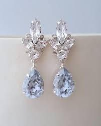 light blue earrings dusty blue earrings bridal earrings bright blue chandelier earrings aquamarine earring swarovski earring wedding jewelry 2821288