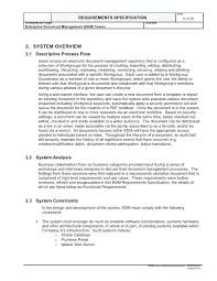 Project Requirements Document Template Printable Business Web Sample ...