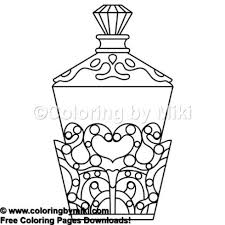 Makeup Perfume Bottle Coloring Page 868 Girls Fashion Beauty