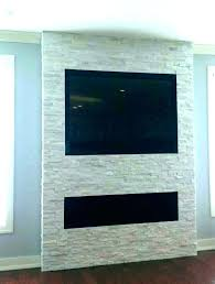hanging tv on stone fireplace how to mount a above stacked ste