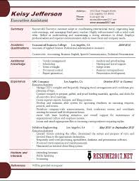 Resume 2017 Awesome 8216 Resume 24 Examples Executive Assistant Resume Samples For
