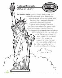 Small Picture National Symbols The Statue of Liberty Worksheets Liberty and