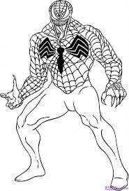 Small Picture Printable Venom Coloring Pages Coloring Me inside Spiderman