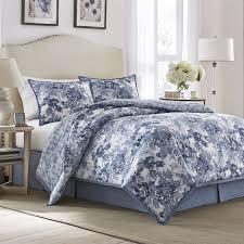 laura ashley ellison cotton comforter set includes comforter shams and coordinating bedskirt comforter is