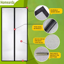 Homearda <b>Magnetic</b> Screen Door Fiberglass-<b>New Upgraded</b> ...