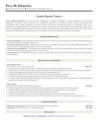 Prop Trader Resume Perfect Resume