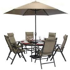 royalcraft monaco aluminium round garden furniture set 6 seater