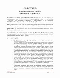 Mutual Confidentiality Agreement Funky Mutual Nda Template Elaboration Documentation Template 35