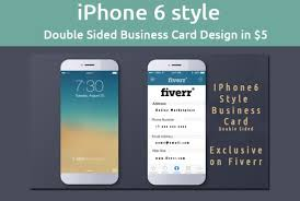 Design An Iphone 6 Style Business Card By Orangedesigns