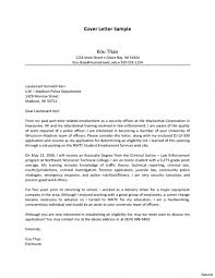 Law Enforcement Cover Letter Examples Sample Cover Letter For Law
