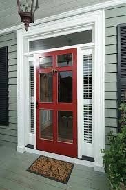 wooden front door with storm door. Delighful Door Vintage Red Storm Door With Clear Glass Screen Window Also Front  And Throughout Wooden O