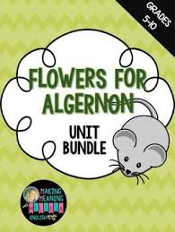 best flowers for algernon images flowers for  flowers for algernon unit bundle vocabulary pre reading critical thinking