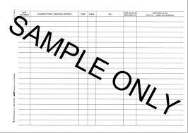 Vehicle Log Book Format Motor Vehicle Log Book