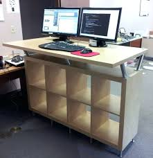 desk adjule standing computer desks resemblance of working with ikea stand up desk face your